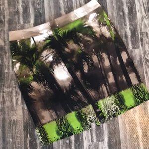 Worthington size 8 Palm tree skirt